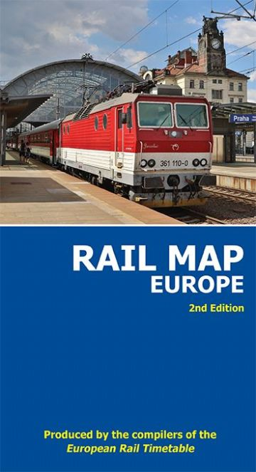 2 x Rail Map of Europe <br> (Flat wall map)